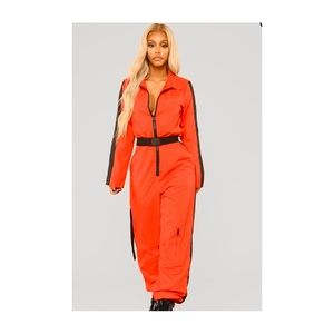 Top Girl Red Jumpsuit